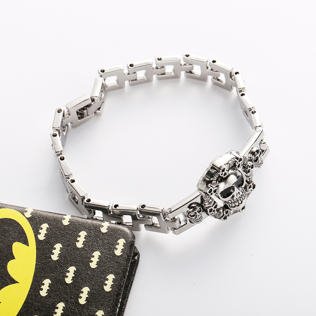 Death Note Cartoon Animation Silver Color Link Bracelet For Men And Women