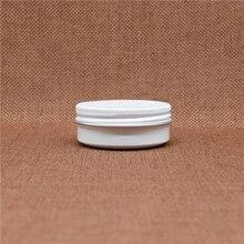 Vacío Blanco 30g Crema Para Los Ojos Frasco de Aluminio Cosméticos Pequeña de Aceite Del Labio Batom Cera Lata Rellenable Con Tapón De Rosca