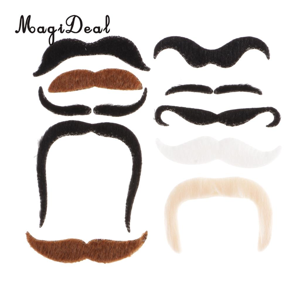 Assorted Fake Moustaches Wholesale Job Lot Fancy Dress Party Self Adhesive