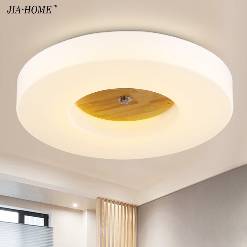 Nordic Ceiling Lights for balcony led ceiling lamp home corridor lights solid wood aisle lamps Deckenleuchte Home Lamp 10w rectangle led aisle lights corridor balcony ceiling bedroom home foyer double head lights 1pcs