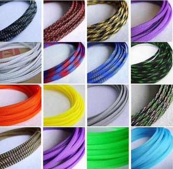 3mm 4mm 6mm 8mm 10mm 12mm pure color multicolor flat pet sleeves braided expandable cable wire.jpg 350x350