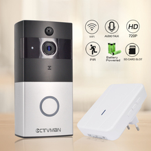 CTVMAN Wireless IP Doorbell Camera PIR Video Door Phone Battery Doorphone Intercom Security Wifi Doorbells with Ring Chime