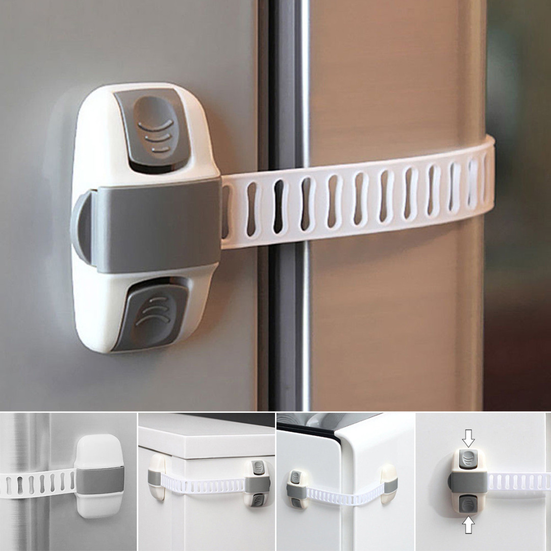 Child Safety Adjustable Fridge Guard Baby Safety Refrigerator Door Latch Child Lock Appliance
