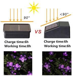 Image 4 - Solar Lampen LED String Lichter 7 mt 50LED 22 mt 12 mt Mit Kirschblüten Girlande Weihnachten Für Hochzeit Garten party Im Freien Club
