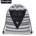 Deanfun 2016 новая мода эсколар рюкзак путешествия 3d печати softback мужчина женщины mochila feminina harajuku drawstring сумка