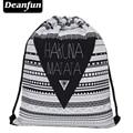 Deanfun 2016 nueva moda softback hombre mujer mochila escolar mochila de viaje de impresión 3d harajuku feminina bolso de lazo