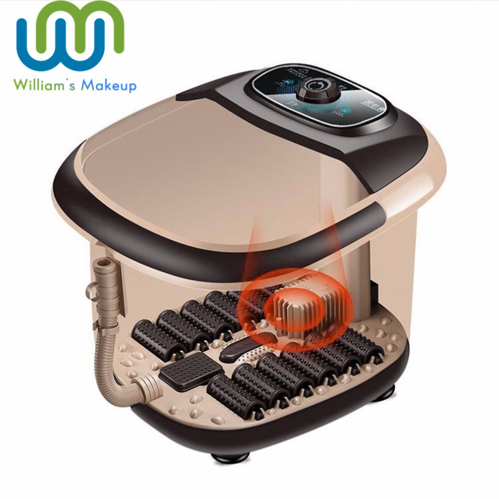 Automatic Foot Massager Electric Roller Massage Device Smart Footbath Machine Compact Foot Heating Massager Best Gift Hot New healthsweet 1pc hot electric foot massager foot massage machine for health care infrared with heating and therapy a317