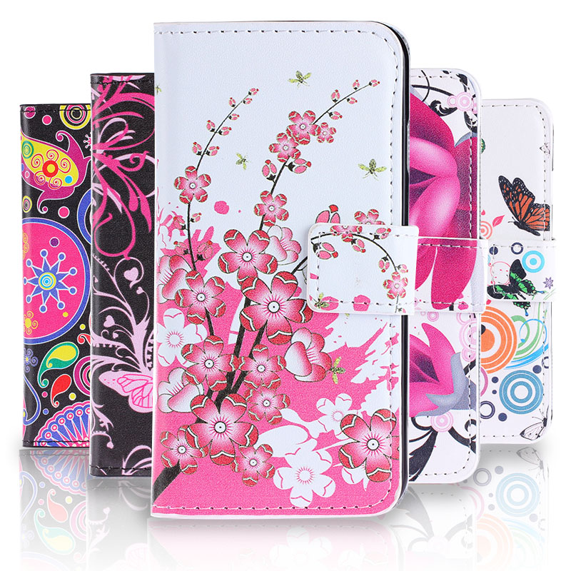 Cartoon Pictures Phone Case for <font><b>Sony</b></font> <font><b>E3</b></font> Fashion Leather Case for <font><b>Sony</b></font> <font><b>Xperia</b></font> <font><b>E3</b></font> <font><b>D2203</b></font> D2206 Flip Wallet Cover With Card Holders image