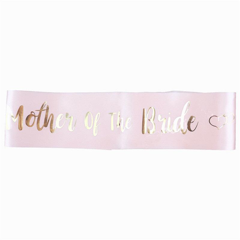 Pink Hot Stamping Bride Etiquette With Bride To Be Sash Bachelor Party Bridesmaid Team Bride Shoulder Strap Girl Beautiful Charm (10)