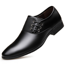 Manufacturers promote 2019 fashion luxury new products Genuine Leather business pointed mens shoes large size England men