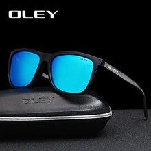 OLEY Brand Aluminum Frame Sunglasses Men Fashion classic women Color film glasses