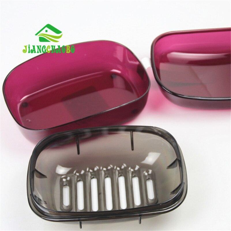 JiangChaoBo Peti Sabun Telus Bilik Mandi Tandas Basuh Sabun Kotak - Organisasi dan penyimpanan di dalam rumah - Foto 3