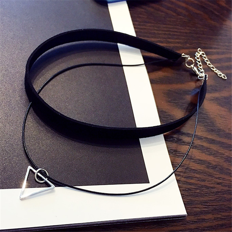 collares Vintage Stretch Tattoo Choker Necklace Punk Retro Gothic Elastic Pendants Necklaces for women christmas gift(China)