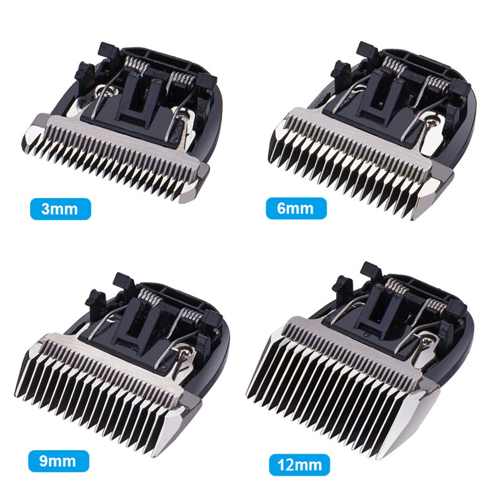 New Dog Clipper Blade Nozzles 3/<font><b>6</b></font>/<font><b>9</b></font>/12mm Integrated Cutter Head Steel Ceramic <font><b>Knives</b></font> for BaoRun P2 P3 P6 P9 S1 Dog Hair Trimmer image