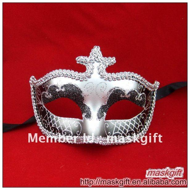 Полулицевая Очаровательная черная и Серебряная Сексуальная Венецианская маска, Маскарадная маска