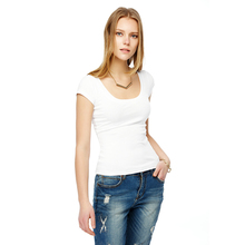 High Quality Low-Cut Short-Sleeved Cotton Crop Tops