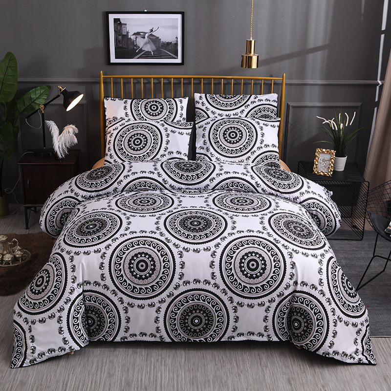 3 Pcs Bedding Set 1 Duvet Cover/quilt Cover+2 Pillowcase Size Twin Full Queen King Luxury Linens E