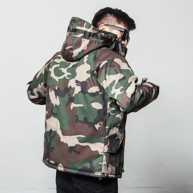 Best Price 2019 New Fashion Winter Jacket Men Camouflage Parkas Men Military Coats Male Thicken Cotton-padded Coats With  Plus Size 3XL 42