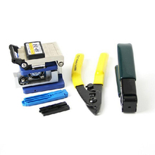 5 w 1 zestaw narzędzi światłowodowych FTTH, FC 6S nóż do włókna + podwójny port Miller szczypce do zdejmowania izolacji/nożyczki kablowe użyj urządzeń Ftth Fttx