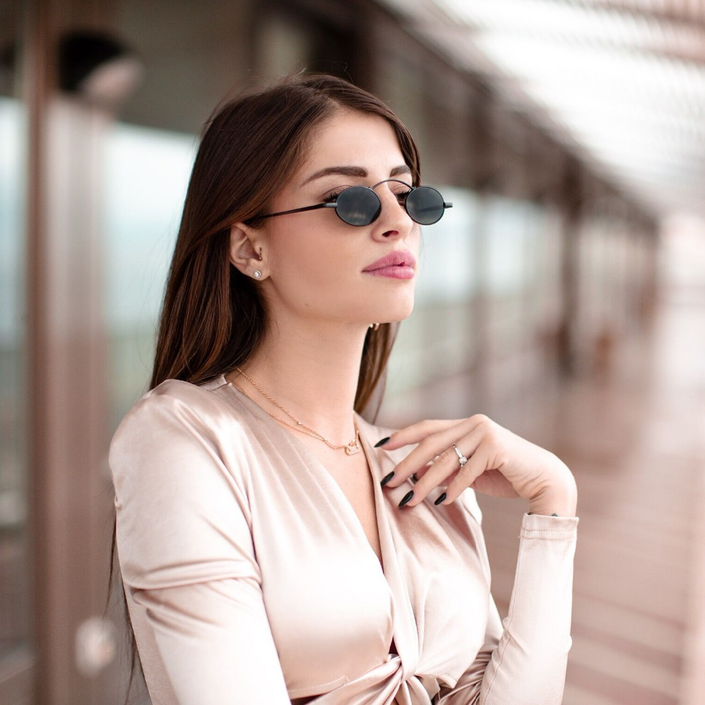 138d0f244b Detail Feedback Questions about Peekaboo vintage small round sunglasses men  red 2019 black oval sun glasses for women retro unisex metal frame on ...