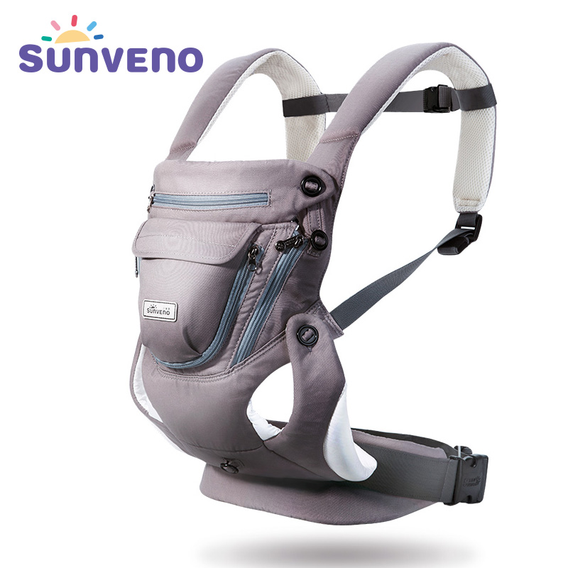 цена на SUNVENO Baby Carrier mochila infantil 0-12 Months Breathable Front Facing Infant Baby Sling Backpack Pouch Wrap Baby
