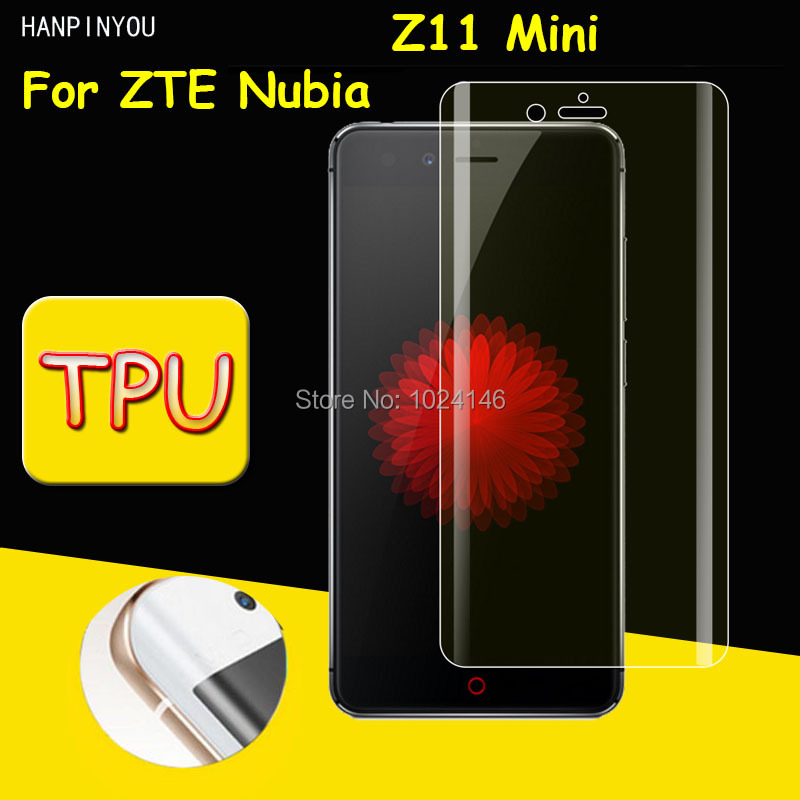 Full Coverage Clear Soft TPU Film Screen Protector For ZTE Nubia Z11 Mini /Z11mini 5.0, Cover Curved Parts (Not Tempered Glass)