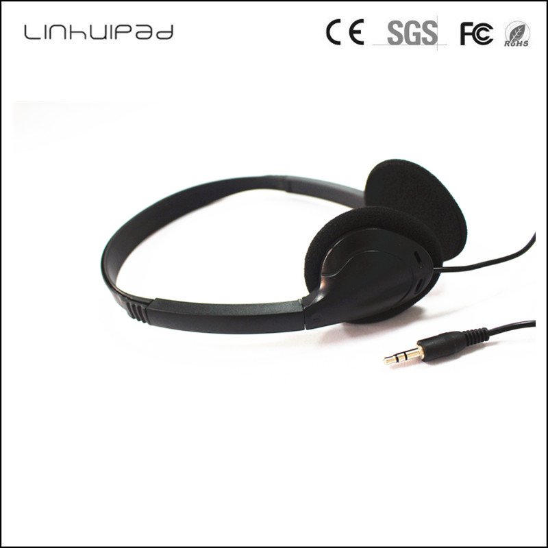 Linhuipad 3.5mm Plug Cheap Headsets disposable Gaming Earphone Headphone for fitness centers spas gyms Computer Laptop 300 PCS image