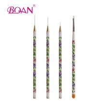 Retail 1 Set UV Gel Acrylic Nail Art Brushes Set Tips Builder Painting Pen Gift Free Shipping