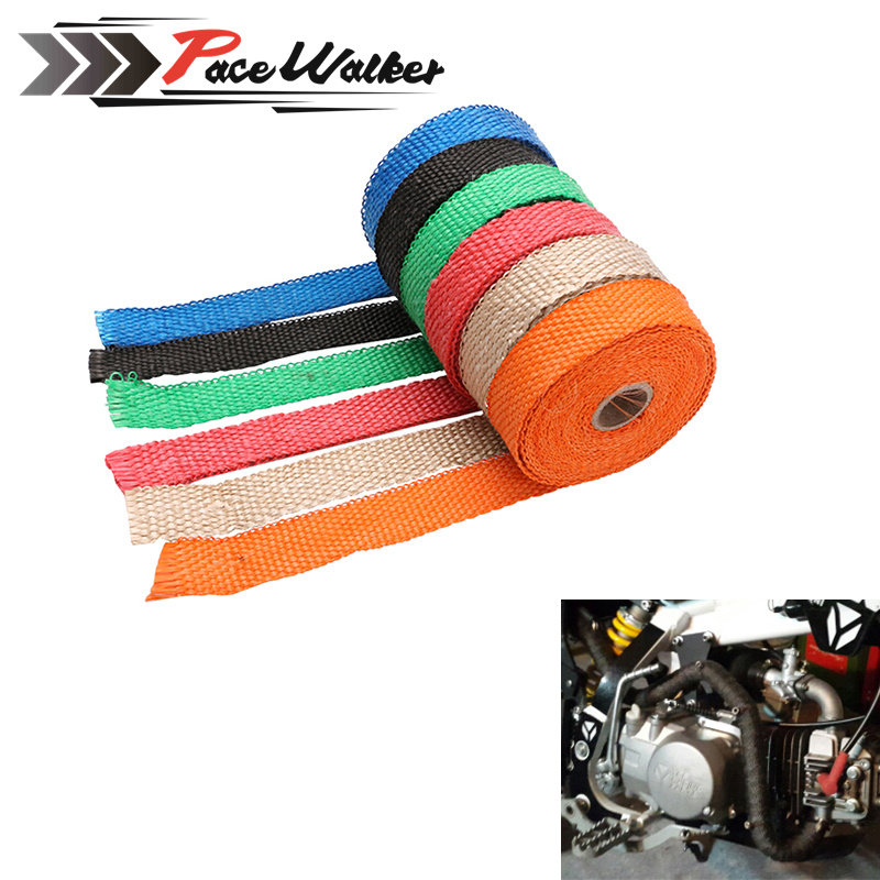FREE SHIPPING CAR MOTORCYCLE Incombustible Turbo MANIFOLD HEAT EXHAUST WRAP TAPE THERMAL STAINLESS TIES 1.5mm*25mm*5m