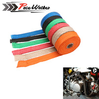 FREE SHIPPING CAR MOTORCYCLE Incombustible Turbo MANIFOLD HEAT EXHAUST THERMAL WRAP TAPE STAINLESS TIES 1 5mm