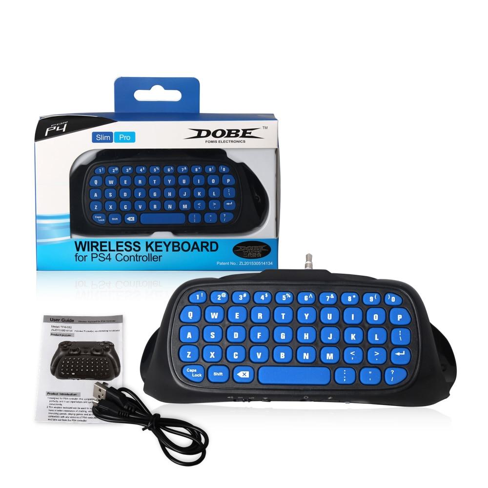 2016 Más Nuevo Negro Y Azul Joystick Bluetooth Key Board Para Ps4 Slim Y Pro Controlador 2,4g Teclado Inalámbrico Con Paquete