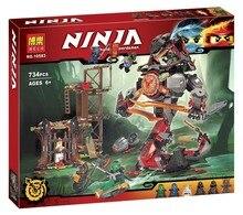734 unids ninja nueva 10583 doom amanecer de hierro diy modelo kit de construccion bloques juguetes playset compatible con 70626