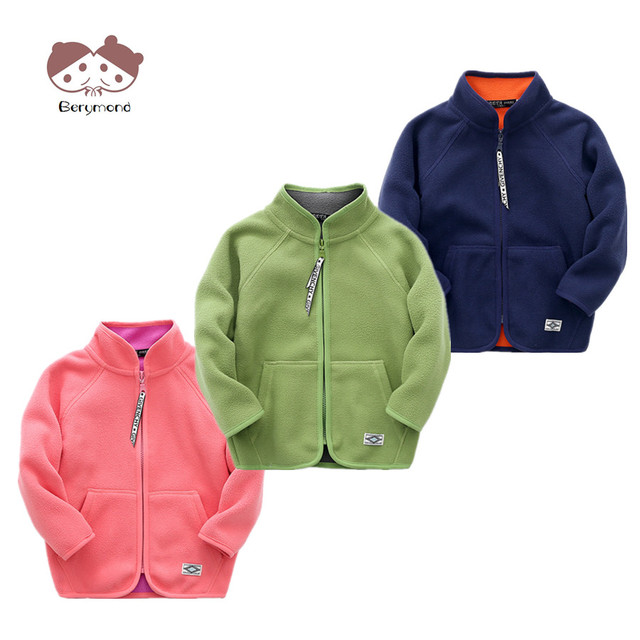 fa7a3f395 Children Spring Overcoat Candy Color Kids Zipper Jackets 3 8T Baby ...