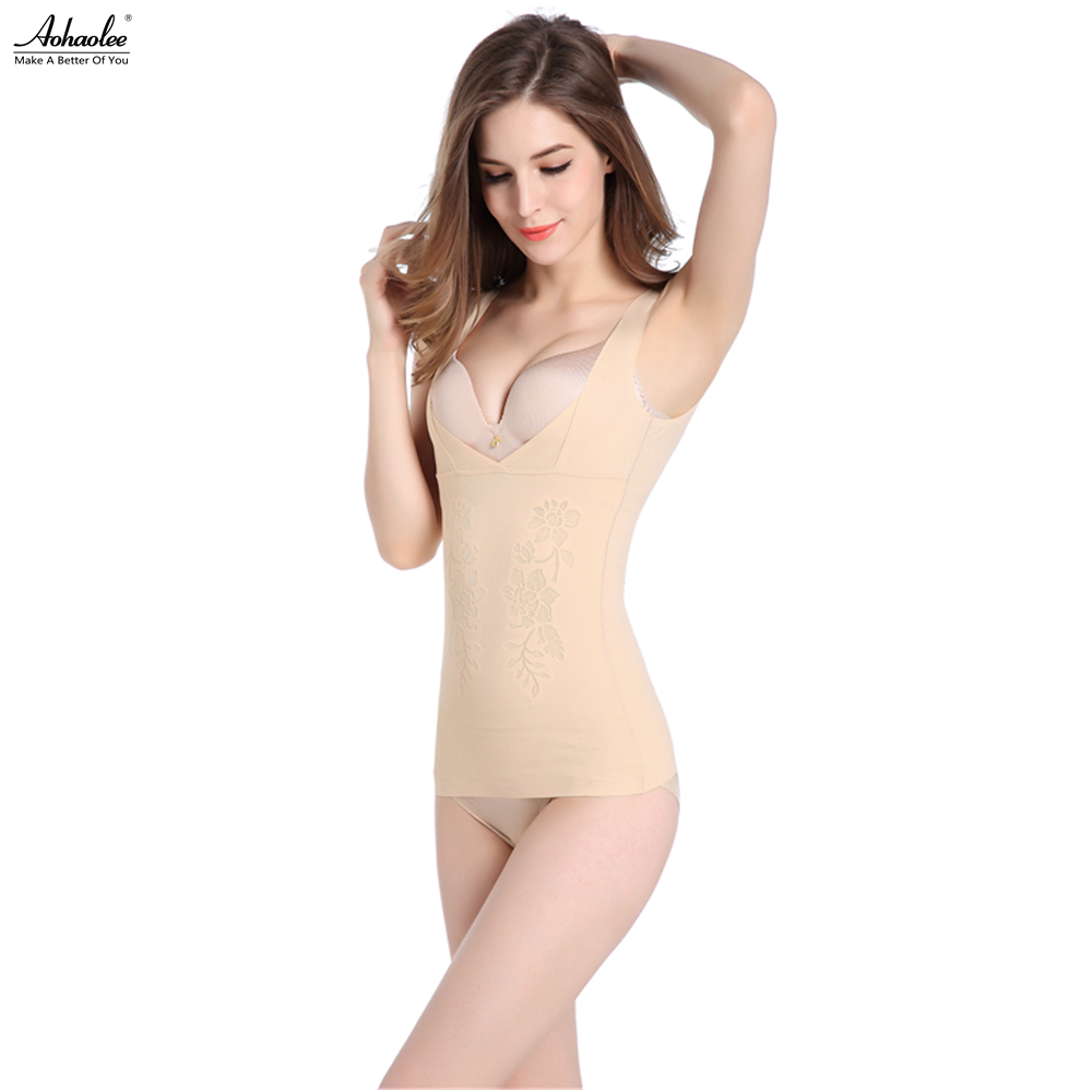 c010045ecd4fe Aohaolee Women s Shapewear Supersoft Camisole Firm Tummy Control Shaping  Tank Tops Slimming Waist Body Shaper Lift Bra Underwear-in Tops from  Underwear ...