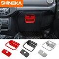 Молдинги для салона автомобиля SHINEKA ABS, ящик для хранения со-пилотом, ручка, декоративная крышка, наклейки для Jeep Wrangler JL 2018 + аксессуары