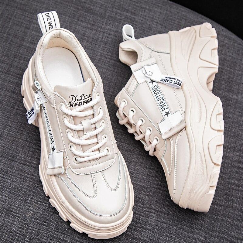 forme Pour noir Chunky Printemps Chaussures À Formateurs Semelles Épaisses Femme Sneaker 2019 Confortable Dames Des Mode Sneakers Femmes Plate Beige xYwanHHqI
