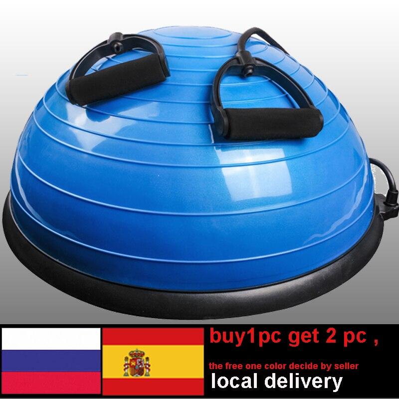 58 centimetri di Yoga Palla Equilibrio di Allenamento di Ginnastica Pilates Palla Mezza Sfera di Yoga Esercizi di Formazione Fitball Con le Stringhe e Pompa