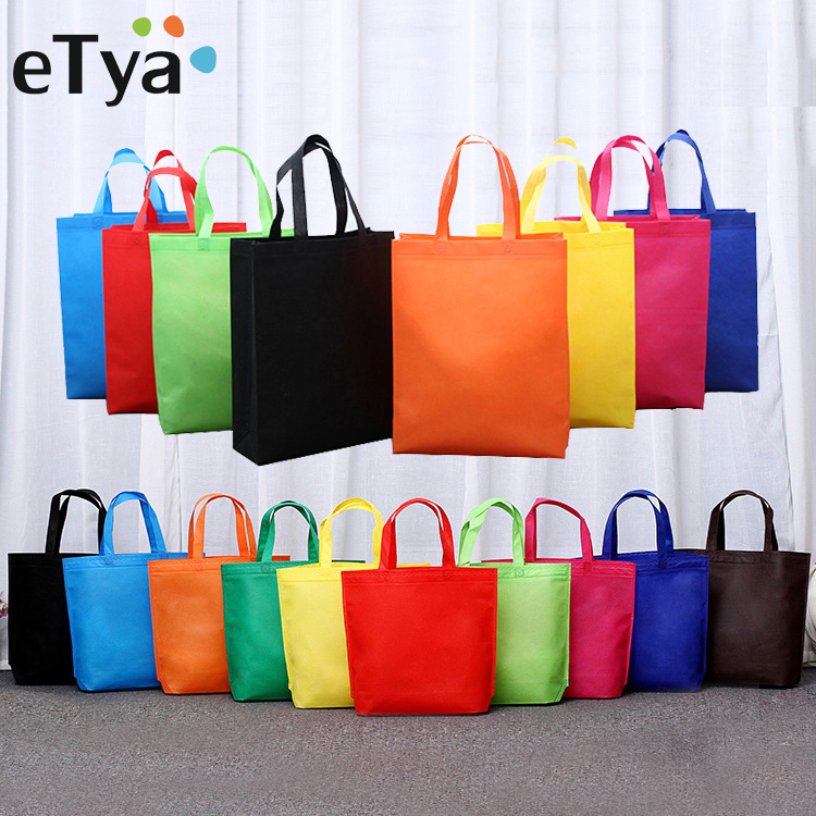 ETya Reusable Shopping Bag Foldable Tote Grocery Bag Large Capacity Non-Woven Travel Storage Eco Bags Women Shopping Handbag
