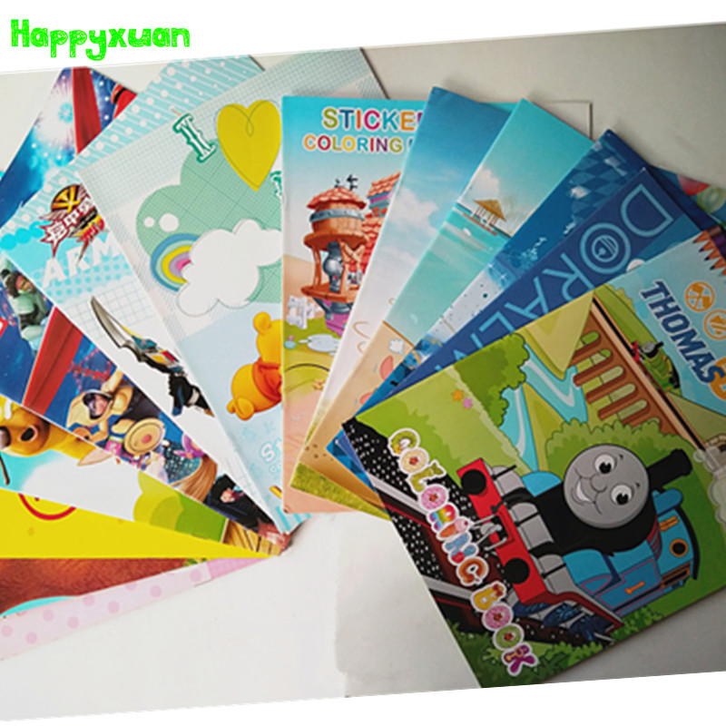 happyxuan 5 bookspack kids coloring book boys cars tomas wild animals classic toys cartoon