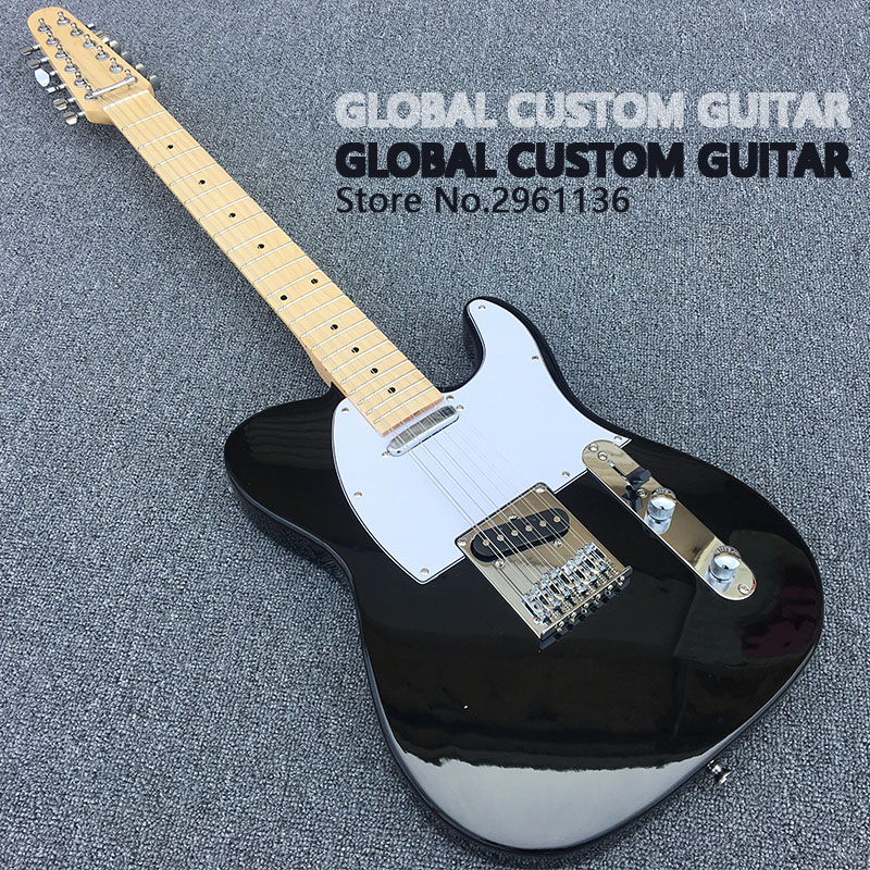2017 New High quality A variety of color TL electric guitar,12 string guitar ,Real photos,free shipping Promotional offers  high quality electric guitar custom emg 81 85 actieve pickups real photos free shipping