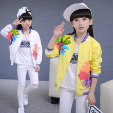 Baby Girls Clothes Spring and Autumn Flower Jackets Big Chil