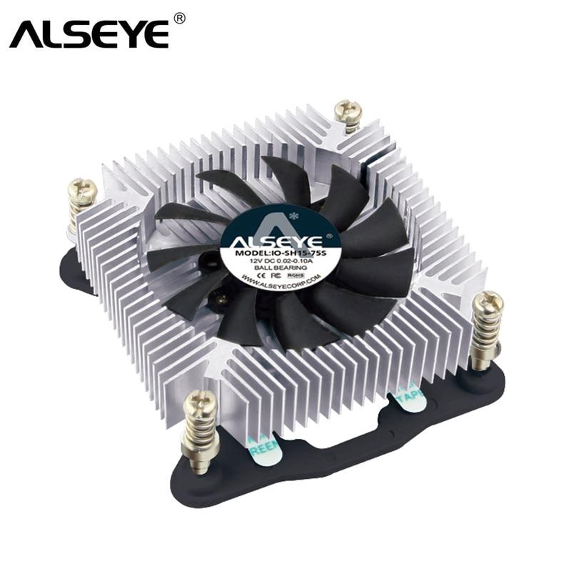 AlSEYE CPU Cooler 1U 4pin PWM CPU Fan With Aluminum Heatsink 12V 1500-3500RPM Cooling Fan For Computer