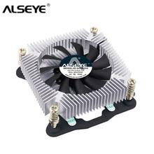 AlSEYE кулер для процессора мини 1U 4pin ШИМ Процессор вентилятор с радиатор 12 В 1500-3500 об./мин. охлаждение процессора для LGA 1155/1156/1151/1150