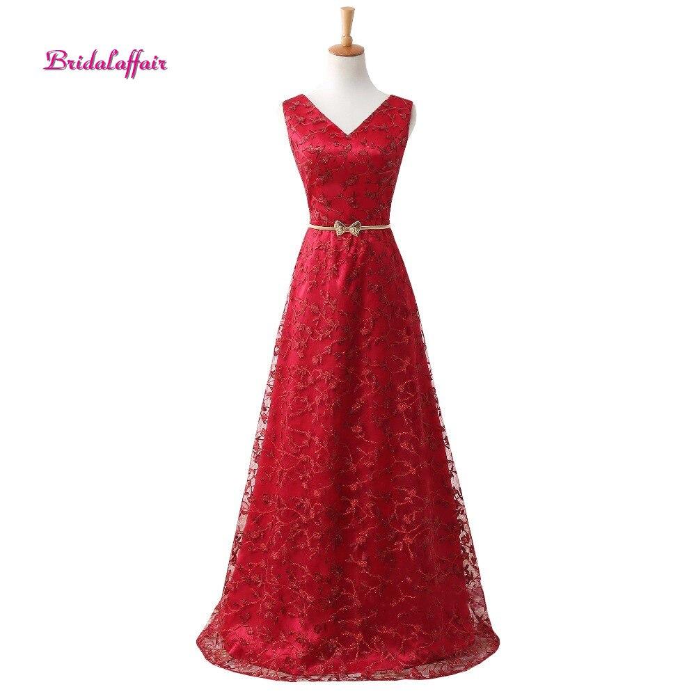 Bridalliaison tapis rouge longues robes de soirée avec ceinture Sexy col en V robes de bal dos ouvert vintage soirée de mariage vraies Photos