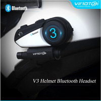 Vimoto бренд V3 600 мАч Многофункциональный Bluetooth мотоциклетный шлем Bluetooth гарнитура для мобильного телефона gps Галлей Honda SUZUKI