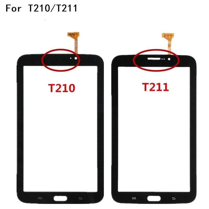 7.0 Écran tactile Pour Samsung Galaxy Tab 3 7.0 SM-T211 SM-T210 T210 T211 Écran Tactile Digitizer Capteur En Verre Avec Logo