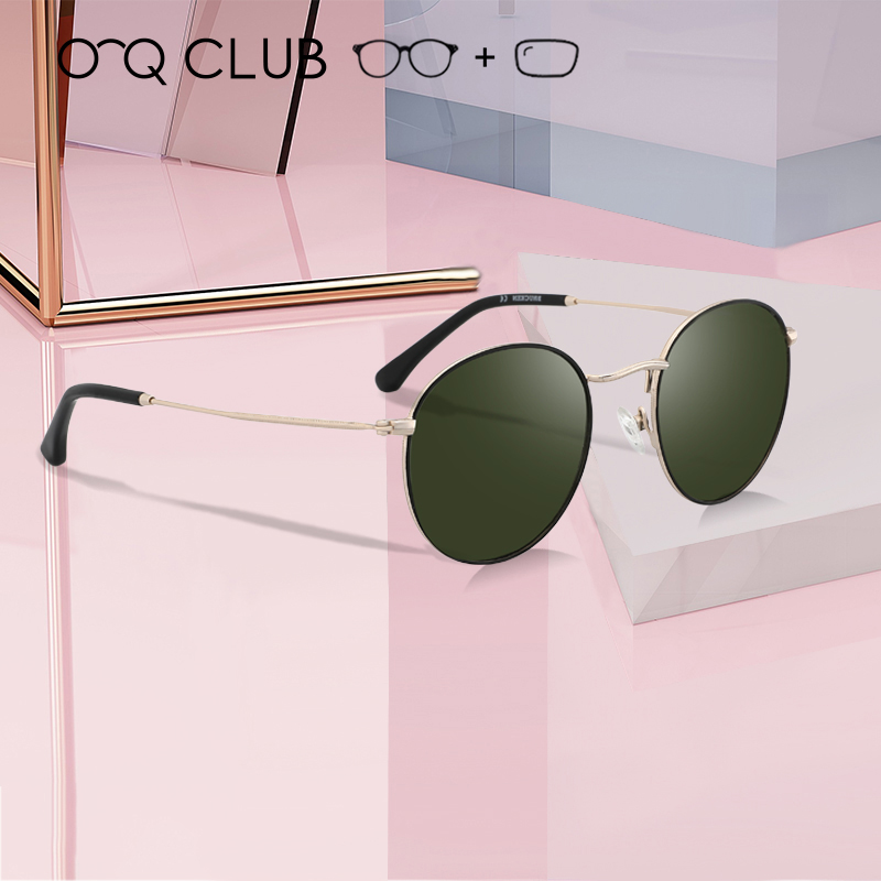 O-Q CLUB Designer Vintage Round Metal Optical Men Women Myopia Eyewear