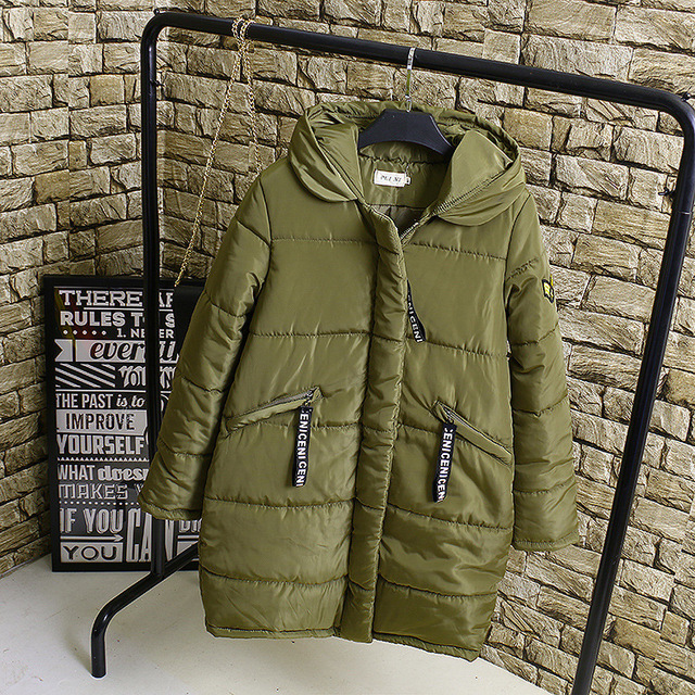 3XL 4XL Plus Size Parkas Women Casual Letter Cartoon Print Loose Warm Thick Hooded Long Parka Coats Outerwear KK2200