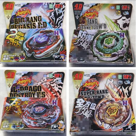 Ny anlända !! Mix 32 Style 4pcs / lot 4D Metal Beyblade Brasilien USA Hot Sale Leksaker Flight Big Bang Beyblade