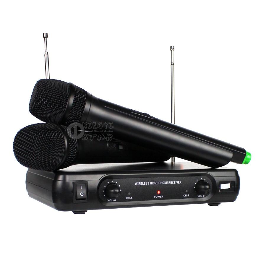 Professionaalne traadita mikrofon Karaoke süsteem Kahekordne - Kaasaskantav audio ja video - Foto 3